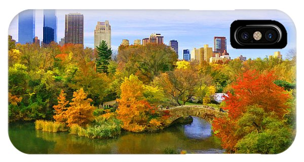 Autumn In Central Park 4 IPhone Case