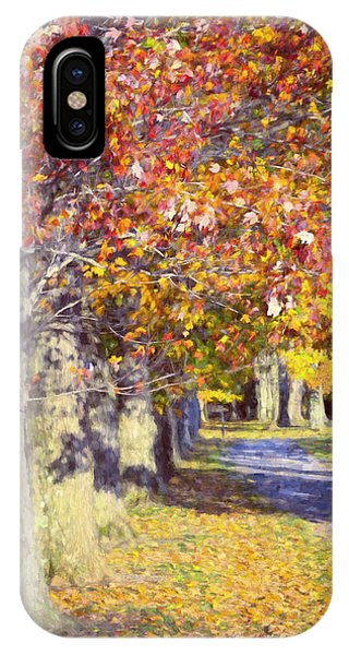 Autumn In Hyde Park IPhone Case