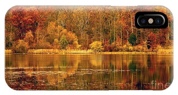 Autumn In Mirror Lake IPhone Case