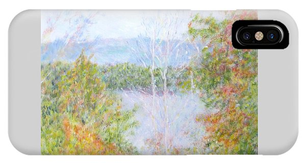 Autumn By The Lake In New Hampshire IPhone Case