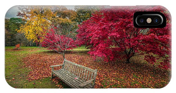 Scarlet iPhone Case - Autumn In The Park by Adrian Evans