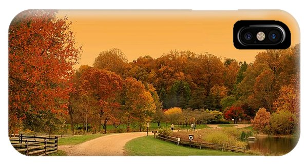 Autumn In The Park - Holmdel Park IPhone Case