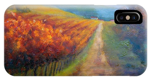 Autumn In The Vineyard IPhone Case