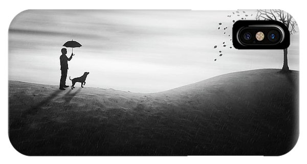 Umbrella iPhone Case - Autumn by Ivan Marlianto