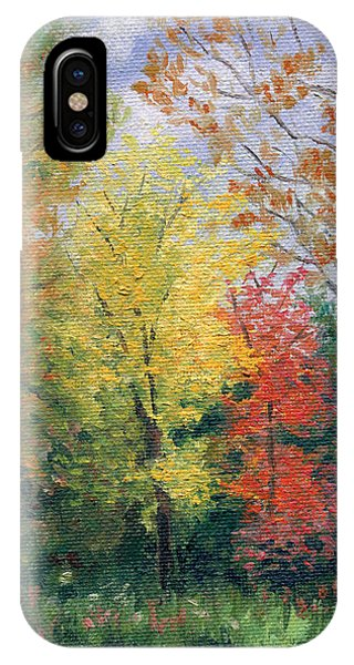 IPhone Case featuring the painting Autumn by Joe Winkler