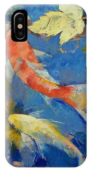 Fish iPhone Case - Autumn Koi Garden by Michael Creese