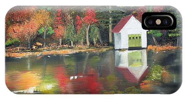 Autumn - Lake - Reflecton IPhone Case
