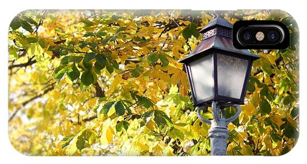 Autumn Lamp Post IPhone Case