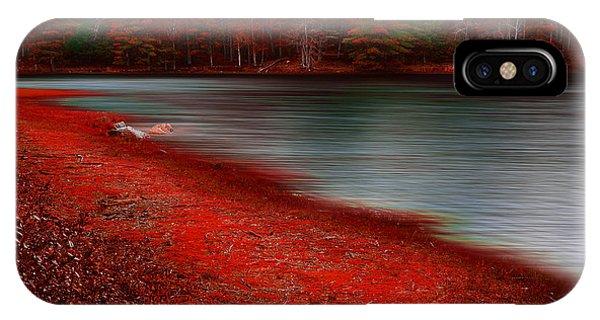 New England Barn iPhone Case - Autumn Land by Lourry Legarde