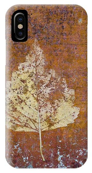 Autumn Leaf On Copper IPhone Case