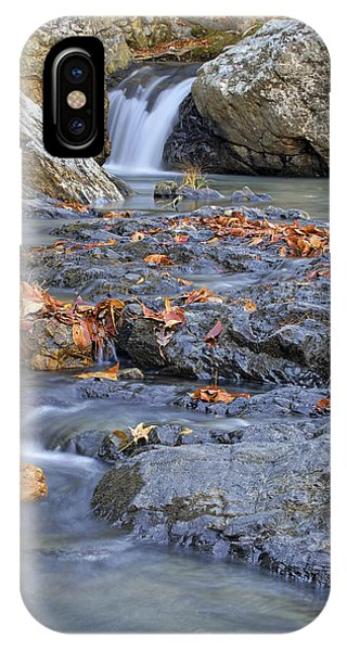 Autumn Leaves At Little Missouri Falls - Arkansas - Waterfall IPhone Case