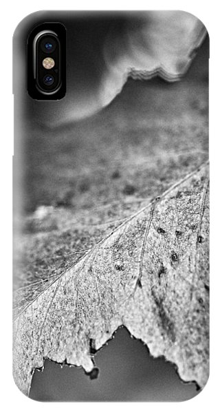 Autumn Leaves B And W IPhone Case