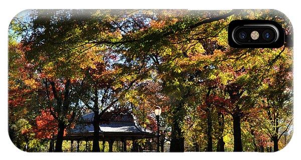 Autumn Leaves In Prospect Park IPhone Case