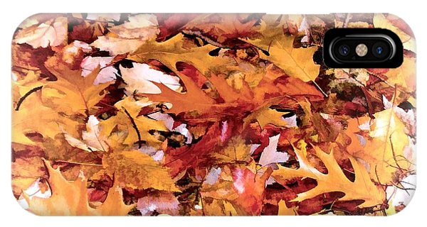 Autumn Leaves On The Ground In New Hampshire In Muted Colors IPhone Case