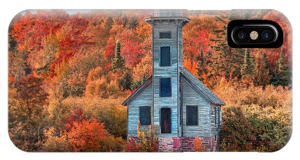 Autumn Lighthouse IPhone Case