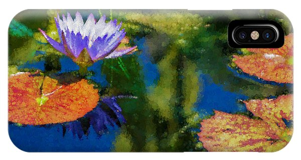 Autumn Lily Pad Impressions IPhone Case
