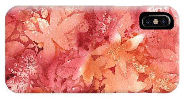 Autumn iPhone X Case - Autumn Monochrome by Neela Pushparaj