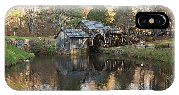 Autumn Morning At Mabry Mill IPhone Case