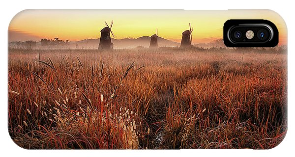 Pond iPhone Case - Autumn Morning by Tiger Seo