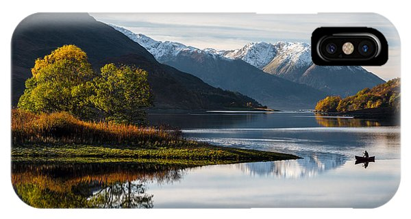 Beautiful Scotland iPhone Case - Autumn On Loch Leven by Dave Bowman