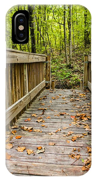 Autumn On The Bridge IPhone Case