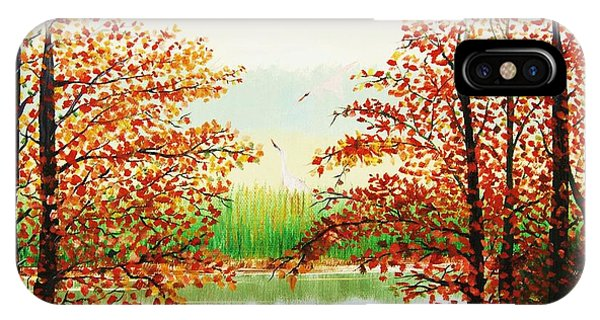 Autumn On The Ema River Estonia IPhone Case