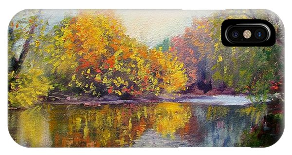 Autumn On The River IPhone Case