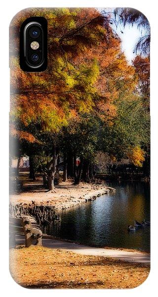 Oklahoma University iPhone Case - Autumn On Theta by Lana Trussell