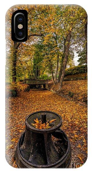 Ironwork iPhone Case - Autumn Park by Adrian Evans