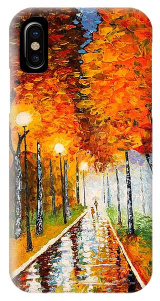 Autumn Park Night Lights Palette Knife IPhone Case