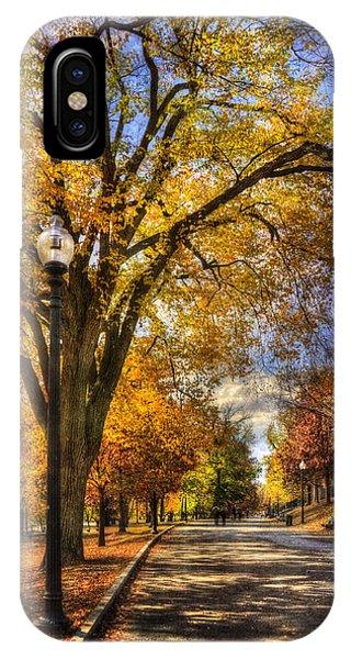 Autumn Path - Boston Public Garden IPhone Case