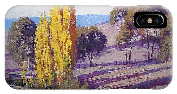 Farmland iPhone Case - Autumn Poplars by Graham Gercken