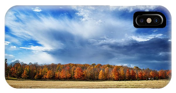 Autumn Rain Over Door County IPhone Case
