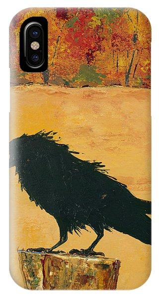 Autumn Raven IPhone Case