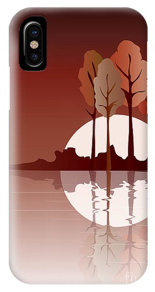 Lake iPhone X Case - Autumn Reflected by Jane Rix