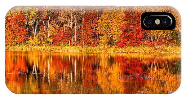 Autumn Reflections Minnesota Autumn IPhone Case