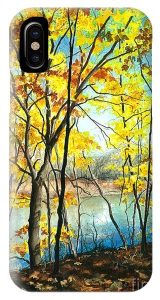 Autumn River Walk IPhone Case