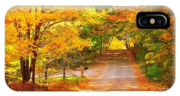 Autumn Road Home IPhone Case