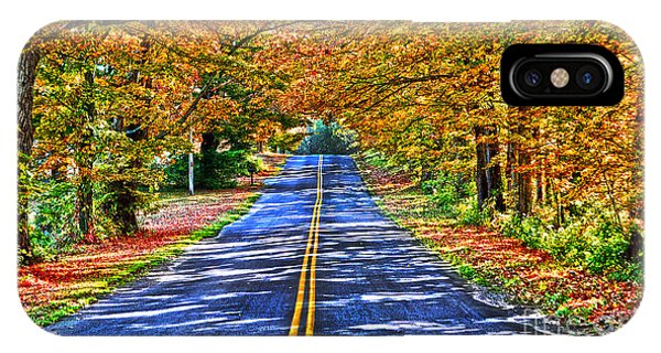 Autumn Road Oneida County Ny IPhone Case