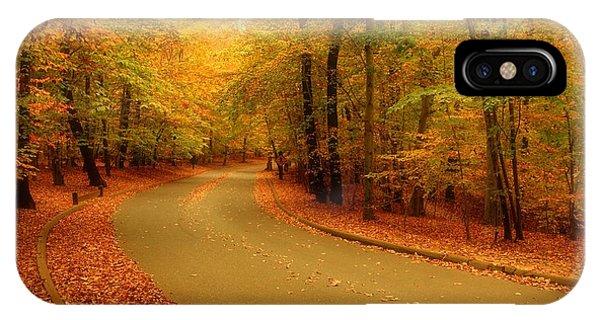 Autumn Serenity - Holmdel Park  IPhone Case