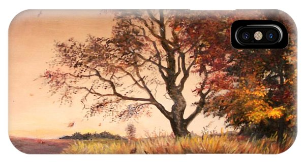 Autumn Simphony In France  IPhone Case
