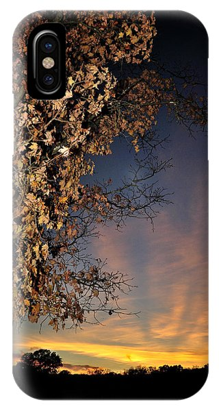 Autumn Sky And Leaves 2 IPhone Case