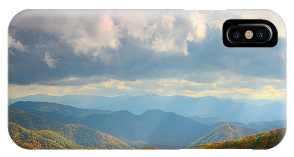 Autumn Storm Over The Great Smoky Mountains National Park IPhone Case