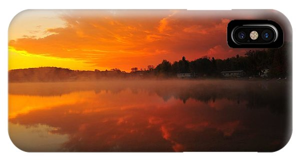 Autumn Sunrise At Stoneledge Lake IPhone Case