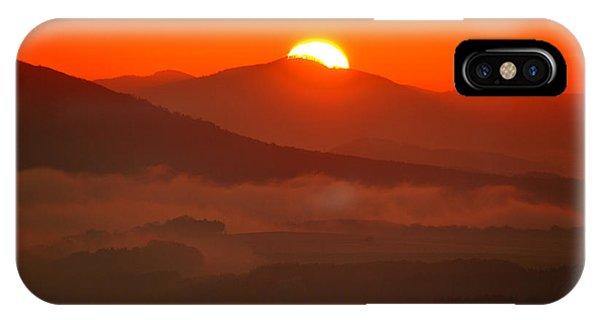Autumn Sunrise On The Lilienstein IPhone Case