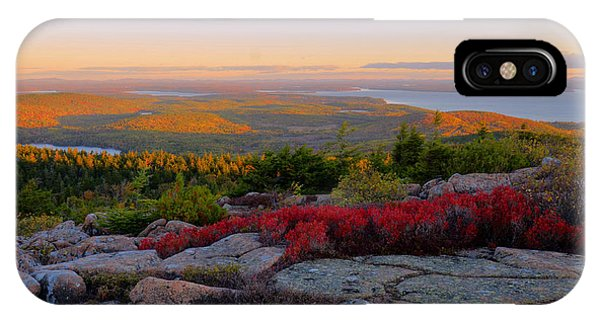 Cadillac Mountain Autumn Sunrise Phone Case by Stephen  Vecchiotti