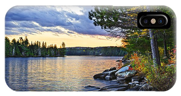 Autumn Sunset At Lake IPhone Case