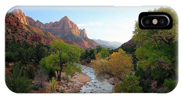 Autumn Sunset In Zion. IPhone Case
