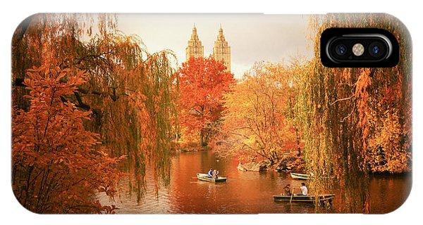 Autumn Trees - Central Park - New York City IPhone Case