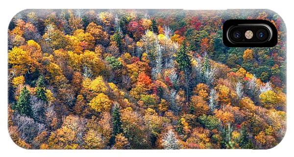Autumn Trees In The Clouds Blue Ridge Parkway N C IPhone Case